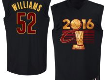 NBA Cleveland Cavaliers 52 Williams adidas 2016 Finals Champions Black Jersey