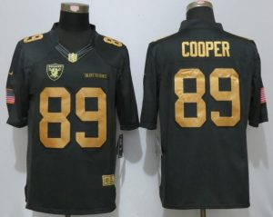 NEW Nike Okaland Raiders 89 Cooper Gold Anthracite Salute To Service Limited Jersey