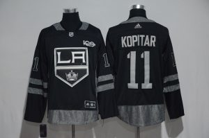 NHL Los Angeles Kings 11 Kopitar Black 1917-2017 100th Anniversary Stitched Jersey