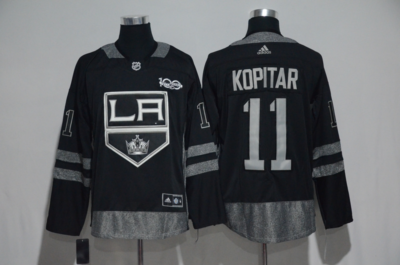 NHL Los Angeles Kings 11 Kopitar Black 1917-2017 100th Anniversary Stitched Jersey