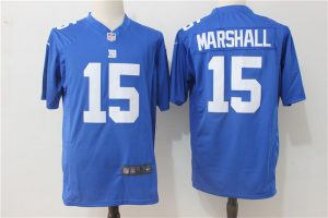 New York Giants 15 Marshall Blue Game 2017 Nike Jerseys