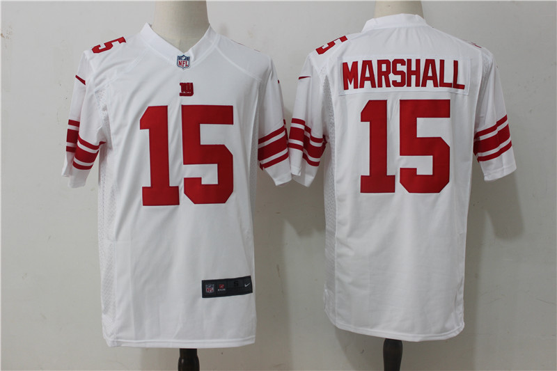 huge selection of 00918 68a9c New York Giants 15 Marshall White Game 2017 Nike Jerseys ...