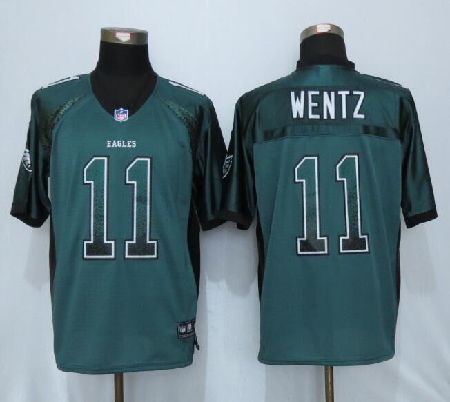 Philadelphia Eagles 11 Wentz Drift Fashion Green NEW Nike Elite Jerseys