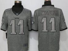 Philadelphia Eagles 11 Wentz Gray Men's Stitched Gridiron Gray Nike Limited Jersey