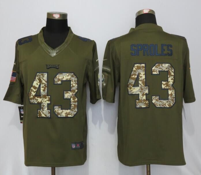 Philadelphia Eagles 43 Sproles Green Salute To Service Nike Limited Jersey