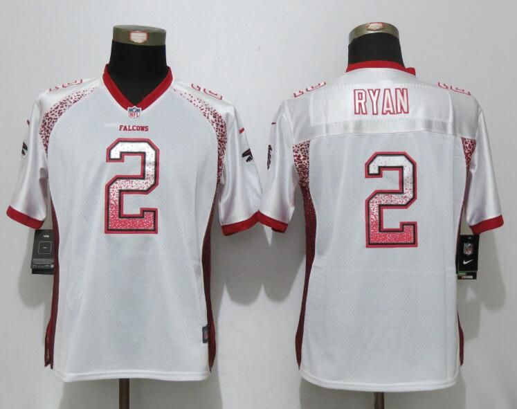 Women New Nike Atlanta Falcons 2 Ryan Drift Fashion White Elite Jerseys