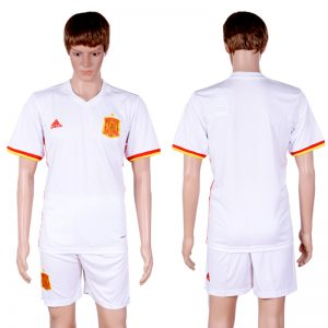 2016-2017 National Spain away Blank White Soccer Jersey