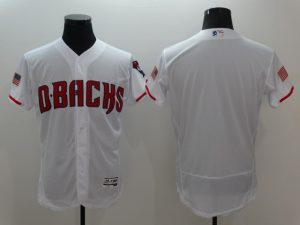 2016 MLB Arizona Diamondbacks Blank White Elite Fashion Jerseys