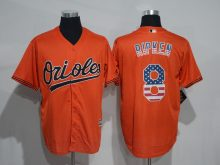 2016 MLB Baltimore Orioles 8 Cal Ripken Orange USA Flag Fashion Jerseys