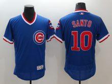 2016 MLB Chicago Cubs 10 Santo Blue Elite Fashion Jerseys
