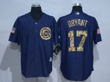 2016 MLB Chicago Cubs 17 Bryant Cowboy blue camouflage