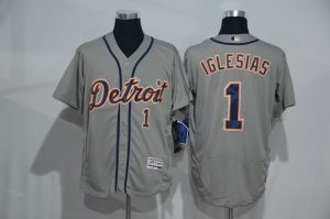 2016 MLB Detroit Tigers 1 Iglesias grey Elite Fashion Jerseys