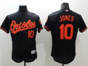 2016 MLB FLEXBASE Baltimore Orioles 10 Jones black jerseys