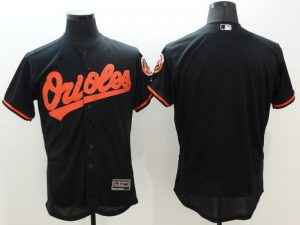 2016 MLB FLEXBASE Baltimore Orioles blank black jerseys