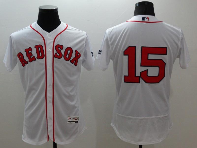 2016 MLB FLEXBASE Boston Red Sox 15 Pedroia white jerseys