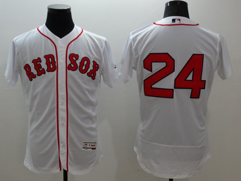 2016 MLB FLEXBASE Boston Red Sox 24 Price white jerseys