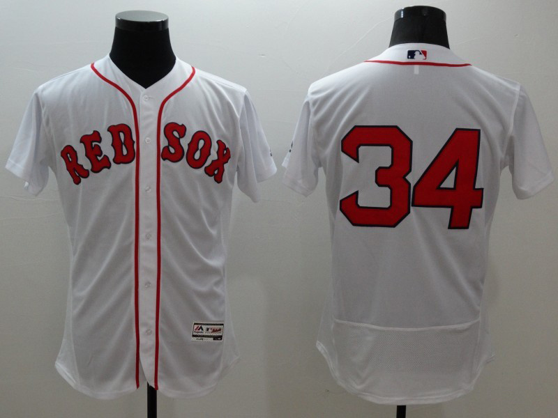2016 MLB FLEXBASE Boston Red Sox 34 Ortiz white jerseys
