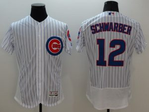 2016 MLB FLEXBASE Chicago Cubs 12 Schwarber white jerseys