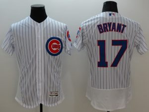 2016 MLB FLEXBASE Chicago Cubs 17 Bryant white jerseys