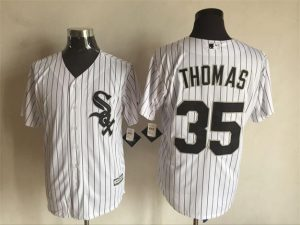 2016 MLB FLEXBASE Chicago White Sox 35 Thomas white jerseys