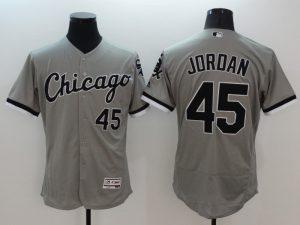 2016 MLB FLEXBASE Chicago White Sox 45 Michael Jordan grey jerseys