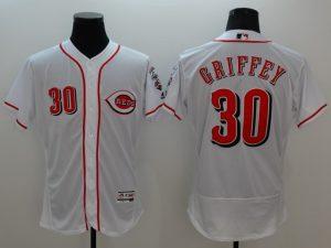 2016 MLB FLEXBASE Cincinnati Reds 30 Griffey white jerseys