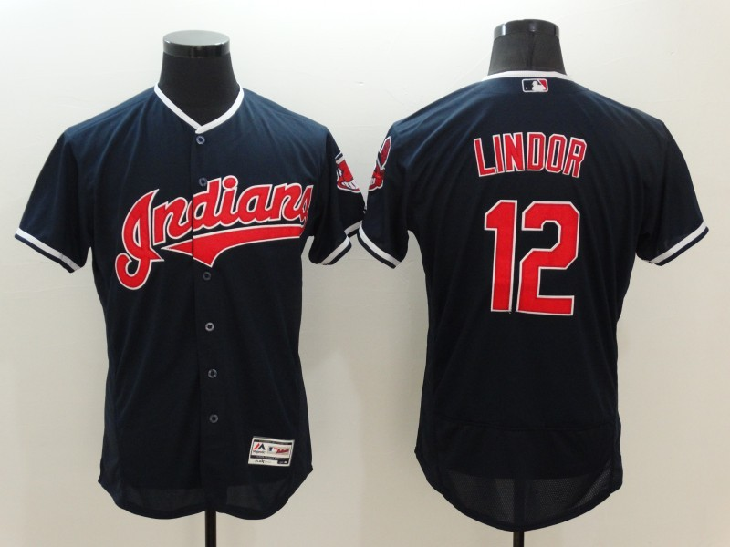 cheap for discount e3097 f102c MLB FLEXBASE Cleveland Indians 12 Lindor Blue Jersey | Cheap ...