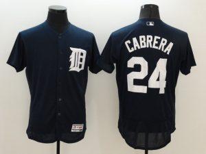 2016 MLB FLEXBASE Detroit Tigers 24 Cabrera Blue Jersey