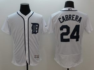 2016 MLB FLEXBASE Detroit Tigers 24 Carbert white jerseys