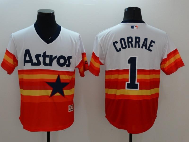 2016 MLB FLEXBASE Houston Astros 1 Carlos Correa 1979 Turn Back The Clock Jersey