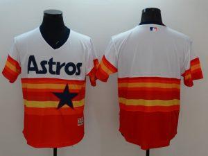 2016 MLB FLEXBASE Houston Astros Blank 1979 Turn Back The Clock Jersey