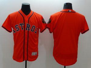 2016 MLB FLEXBASE Houston Astros Blank Orange Jersey
