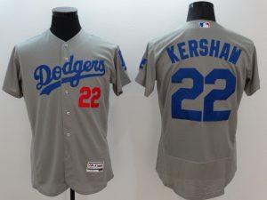 2016 MLB FLEXBASE Los Angeles Dodgers 22 Kershaw grey jerseys