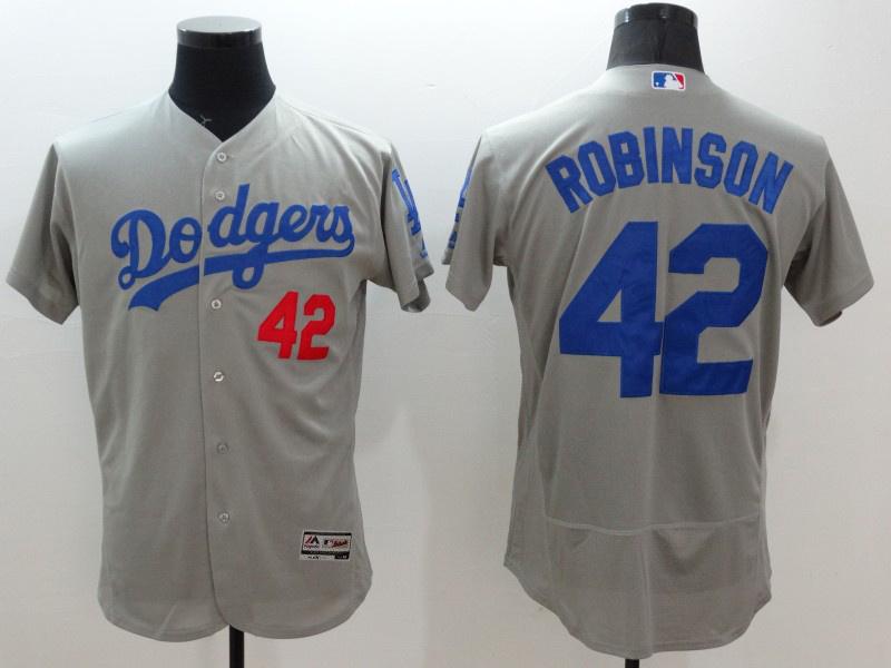 2016 MLB FLEXBASE Los Angeles Dodgers 42 Robinson grey jerseys
