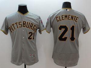 2016 MLB FLEXBASE Pittsburgh Pirates 21 Clemente grey jerseys