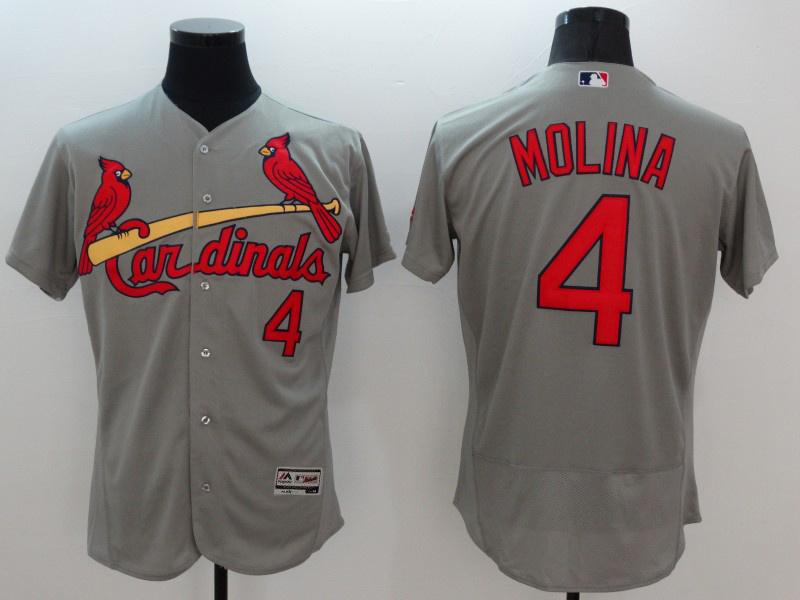 2016 MLB FLEXBASE St.Louis Cardinals 4 Molina grey jerseys