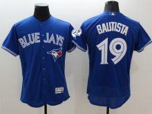 2016 MLB FLEXBASE Toronto Blue Jays 19 Bautista blue jerseys