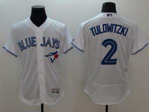 2016 MLB FLEXBASE Toronto Blue Jays 2 Tulowitzki white jerseys