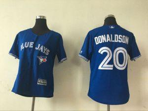 2016 MLB Womens Toronto Blue Jays 20 Josh Donaldson Blue Jersey