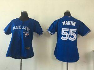 2016 MLB Womens Toronto Blue Jays 55 Russell Martin Blue Jersey
