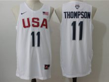 2016 NBA USA Dream Twelve Team 11 Thompson white Jerseys