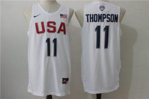 2016 NBA USA Dream Twelve Team 11 Thompson white Jerseys