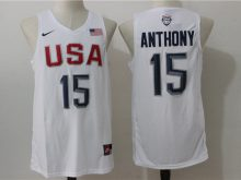 2016 NBA USA Dream Twelve Team 15 Anthony white Jerseys