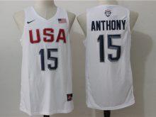 2016 NBA USA Dream Twelve Team 15 Anthony white Jerseys