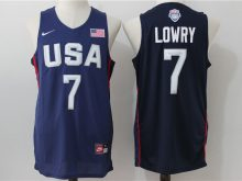 2016 NBA USA Dream Twelve Team 7 Lowry Blue Jerseys
