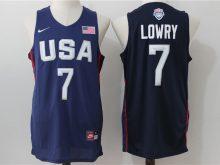 2016 NBA USA Dream Twelve Team 7 Lowry Blue Jerseys