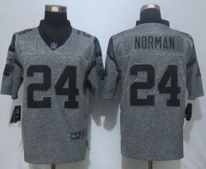 2016 NEW Nike Carolina Panthers 24 Norman Gray Men's Stitched Gridiron Gray Limited Jersey
