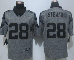 2016 NEW Nike Carolina Panthers 28 Stewart Gray Men's Stitched Gridiron Gray Limited Jersey