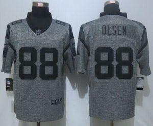 2016 NEW Nike Carolina Panthers 88 Olsen Gray Men's Stitched Gridiron Gray Limited Jerseys