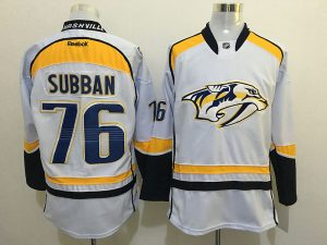 2016 NHL Nashville Predators 76 Subban White Jerseys